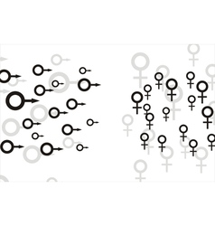 Female and male cells vector image vector image