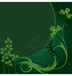 Patrick background vector image vector image