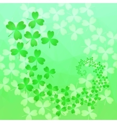 Patricks day background in green colors vector image
