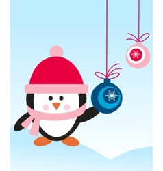 penguin with hat vector image vector image