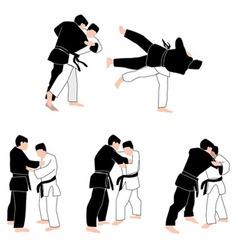 People Judo vector image vector image