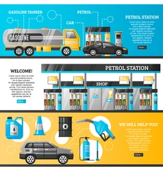 Petrol Station Banners vector image
