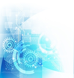 Technology futuristic digital background with gear vector