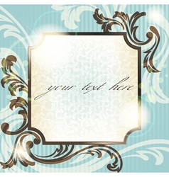 vintage french retro frame vector image vector image