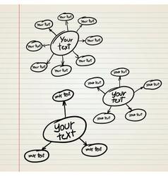 blank Hierarchy diagram vector image vector image