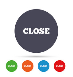 close sign icon cancel symbol vector image