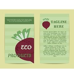 Stylish Farm Fresh flyer template or brochure vector image