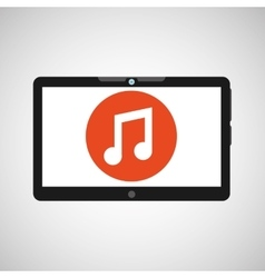 technology music social media design vector image