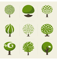 Tree - Collection of design elements vector image vector image