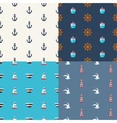 vintage flat design modern nautical marine pat vector image