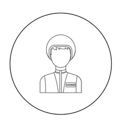 Courier icon in outline style isolated on white vector
