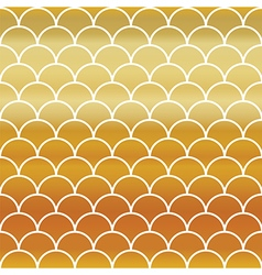 Fish Gold Scales Seamless Pattern vector image vector image