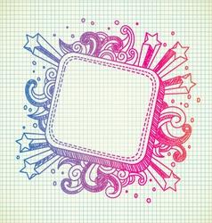 frame doodle vector image