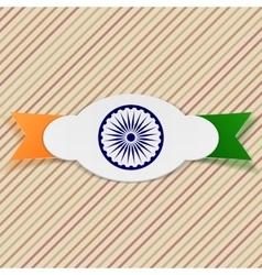 India paper emblem on ribbon vector