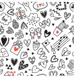 love concept hand drawn romantic seamless vector image