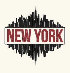 new york city graphic t-shirt design tee print vector image vector image