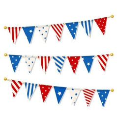 Set of triangle bunting flags vector image