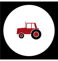 simple red tractor car isolated icon eps10 vector image vector image