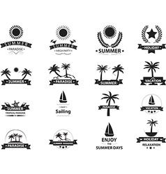 Summer emblem collection vector