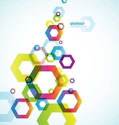 Abstract hexagon background with place for your vector image
