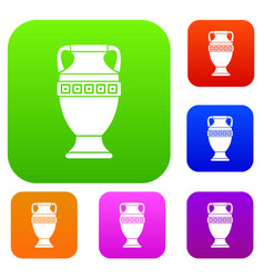 ancient jug set collection vector image vector image