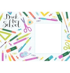 Back to school design template frame of vector