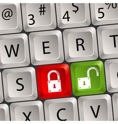 computer keyboard lock key vector image