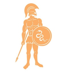 gladiator with a spear vector image vector image