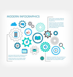modern infographic design vector image vector image