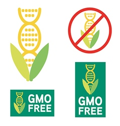 4516GMO GMO free icon symbol desig vector