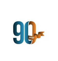 90 year anniversary template design vector