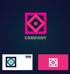 Abstract square rhombus logo icon vector