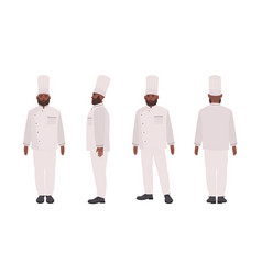 african american chef qualified cook restaurant vector image