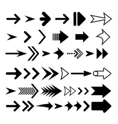 arrow icon big set flat arrows vector image