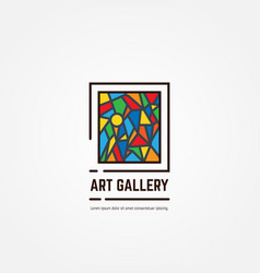 art gallery emblem vector image