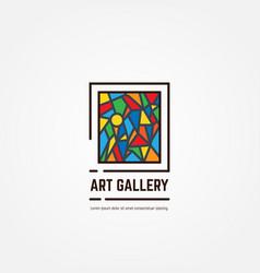 art gallery emblem vector image