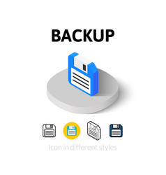 Backup icon in different style vector