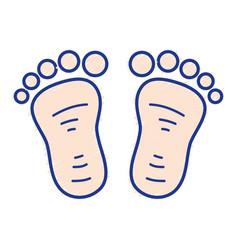 beauty baby footprint design icon vector image