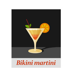 bikini martini cocktail menu item or any kind of vector image