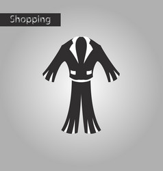 black and white style icon men suit vector image