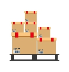 Boxes pile warehouse service vector