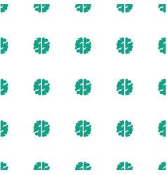 Brain icon pattern seamless white background vector