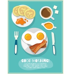 Breakfast icon poster vector image
