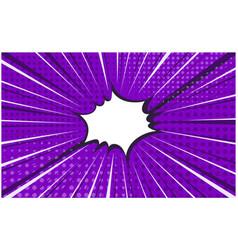 bright pirple striped retro comic background vector image