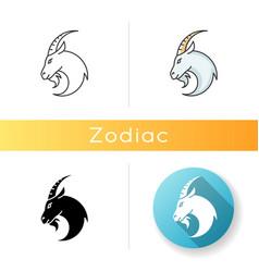 Capricorn zodiac sign icon vector
