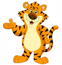 cheerful tiger vector image