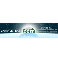 Christmas banner 2017 panoramma with design vector