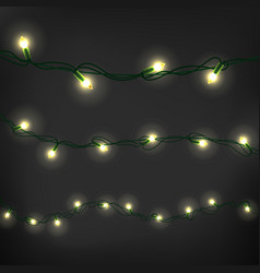 christmas garland clipart realistic elements set vector image