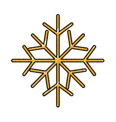 christmas snowflake winter decoration seasonal vector image