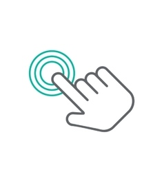 Click hand icon click hand icon flat vector image